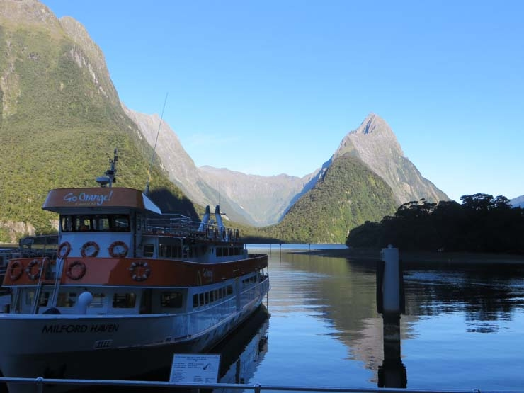 Go Orange boat at Milford Sound
