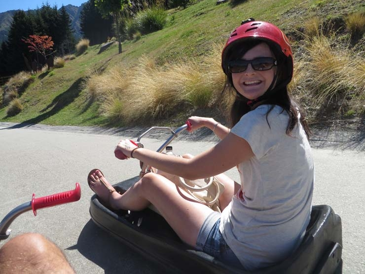 Hannah on the Queenstown Luge