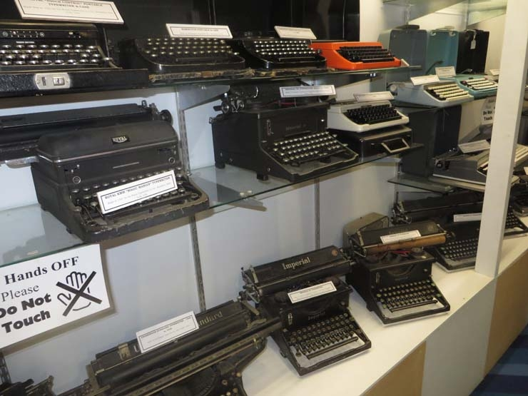 Wanaka Transport and Toy Museum typewriters